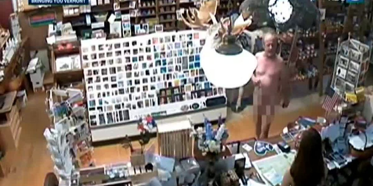 Video: Man walks into store totally nude, buys coffee