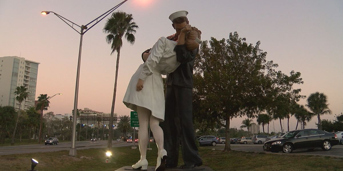 City of Sarasota will move the Unconditional Surrender statue to a different location on the Bayfront