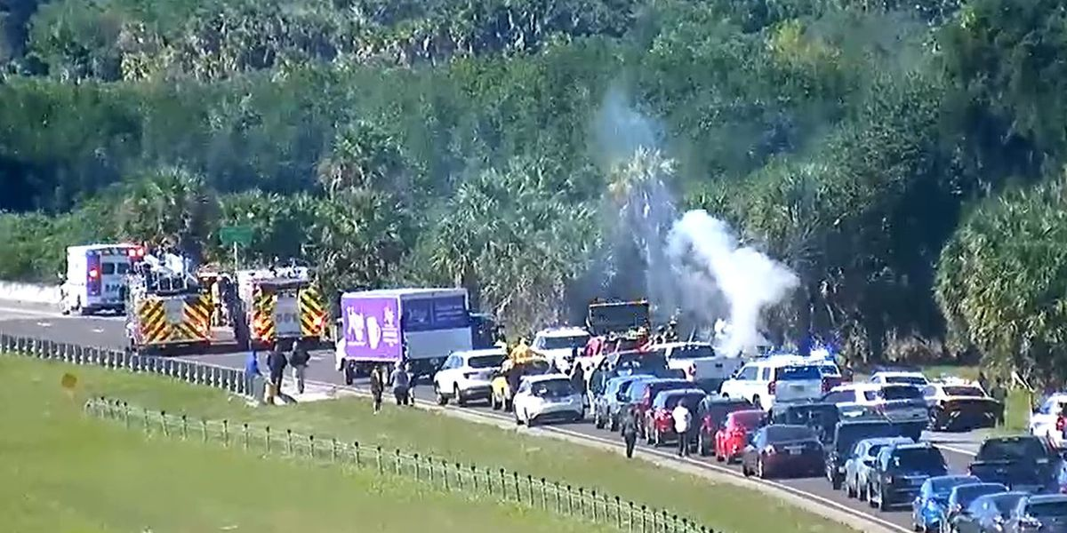 Troopers identify dump truck driver killed in rollover crash, fire on I-275N
