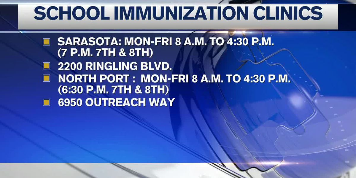 Clinics open for mandatory student vaccinations in Sarasota County