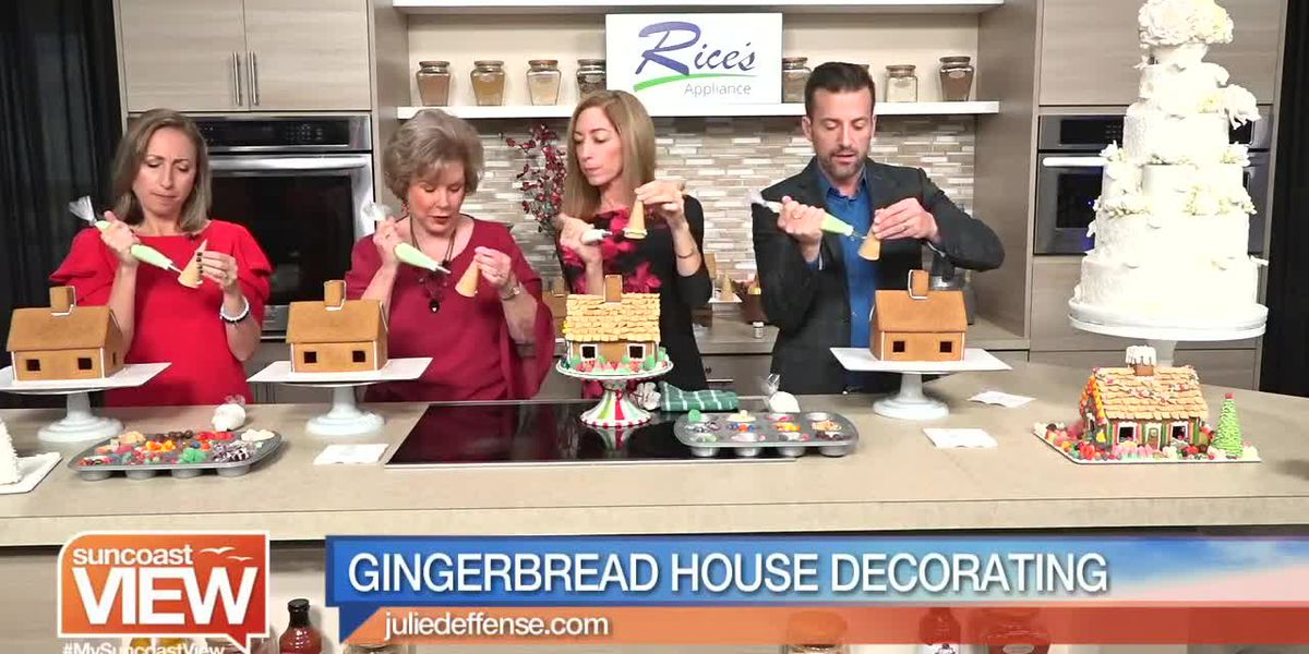 Julie Deffense Makes Gingerbread Houses with Us!   Suncoast View