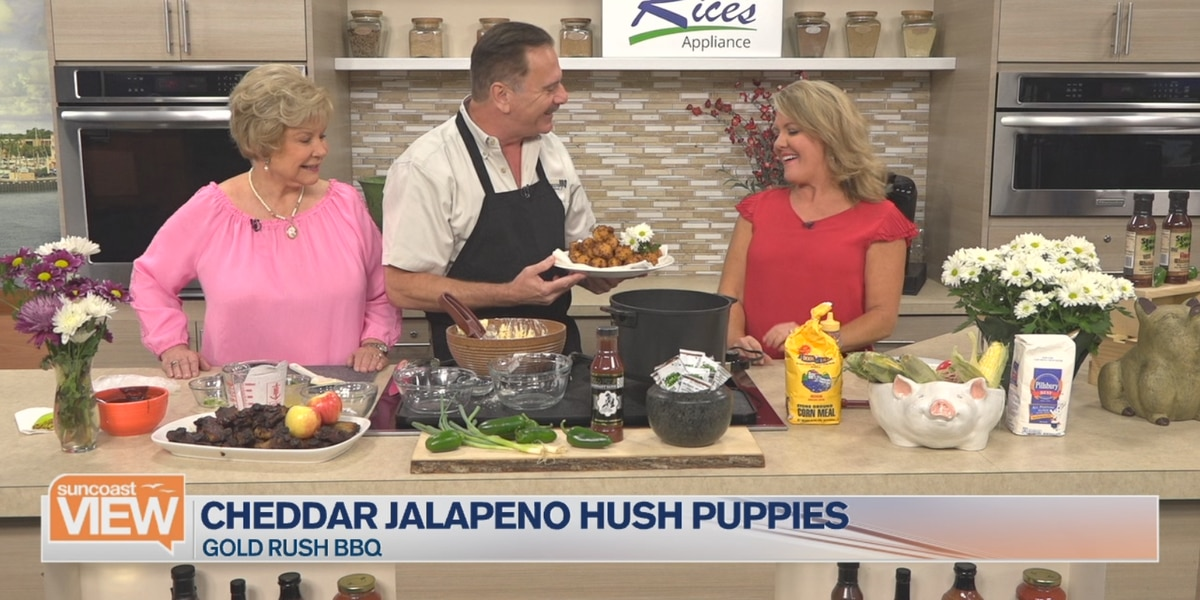 Recipe: Cheddar Jalapeno Hush Puppies by Gold Rush BBQ | Suncoast View
