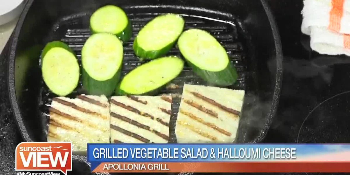 We Learn to Make Grilled Vegetable Salad & Halloumi Cheese with Apollonia Grill | Suncoast View
