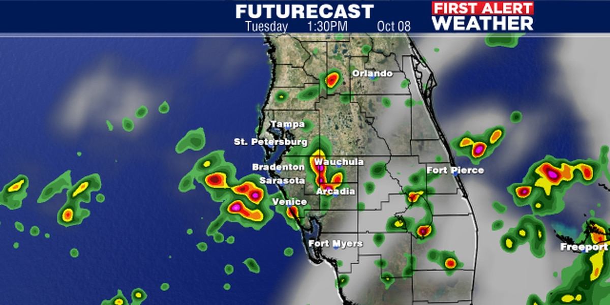 More rain expected on Tuesday with an area of disturbed weather moving through