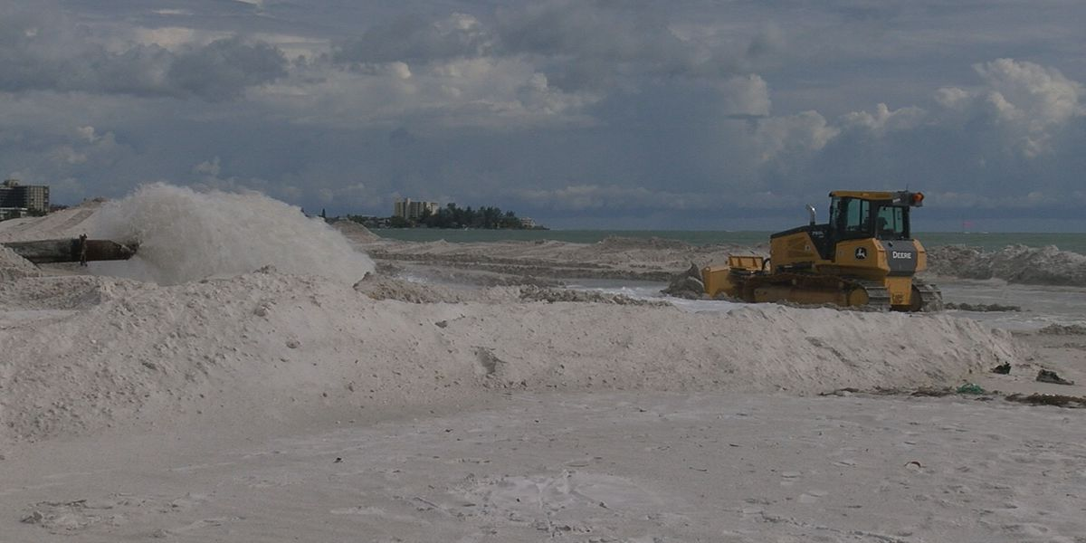 Lido Beach renourishment project and dredging of Big Pass is now underway