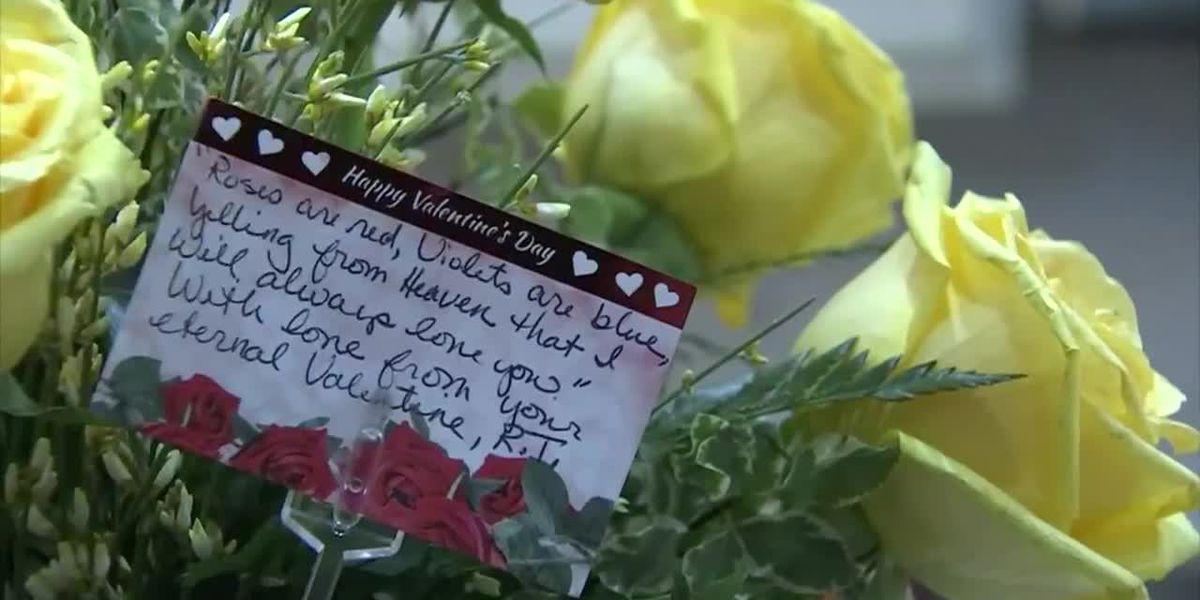 Woman gets Valentine's message from deceased husband