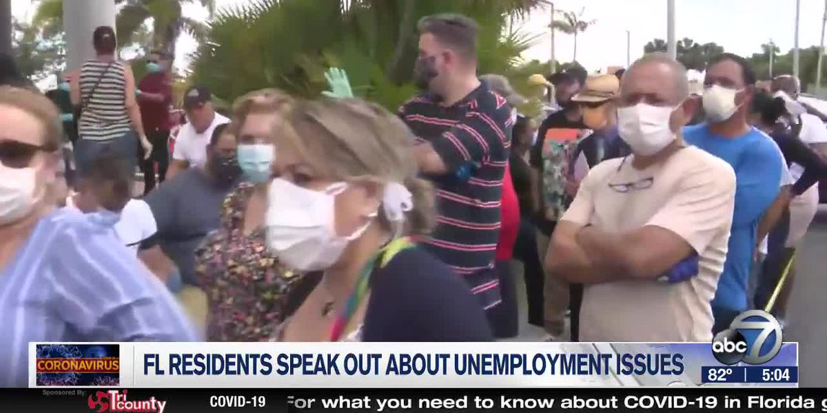 Florida residents speak out about unemployment process