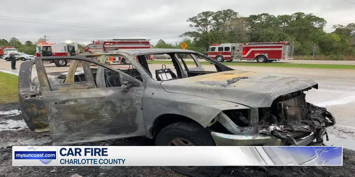 Car Fire In Charlotte County