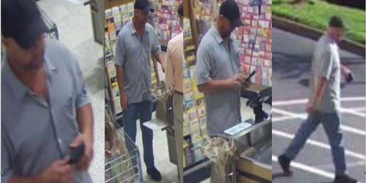 Man steals credit card, uses it at Publix