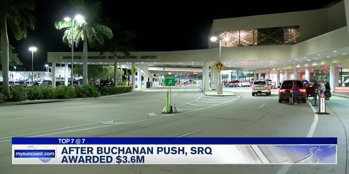 SRQ Airport awarded $3.6M after Buchanan push