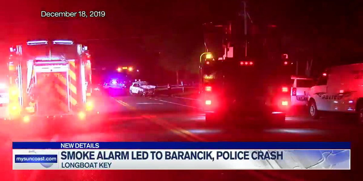 Smoke Alarm Led to Barancik, Police Crash