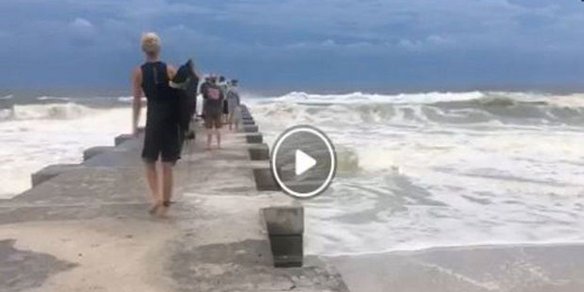 VIDEO: Surfers taking advantage of the waves from Hurricane Michael