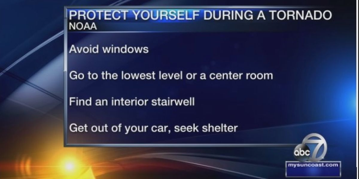 Suncoast face risk of tornadoes, ways to protect yourself