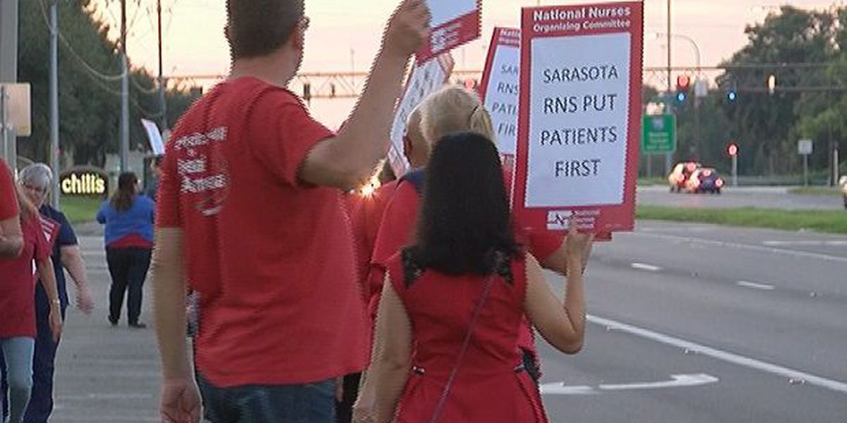 Nurses picket at local hospitals during contract negotiations