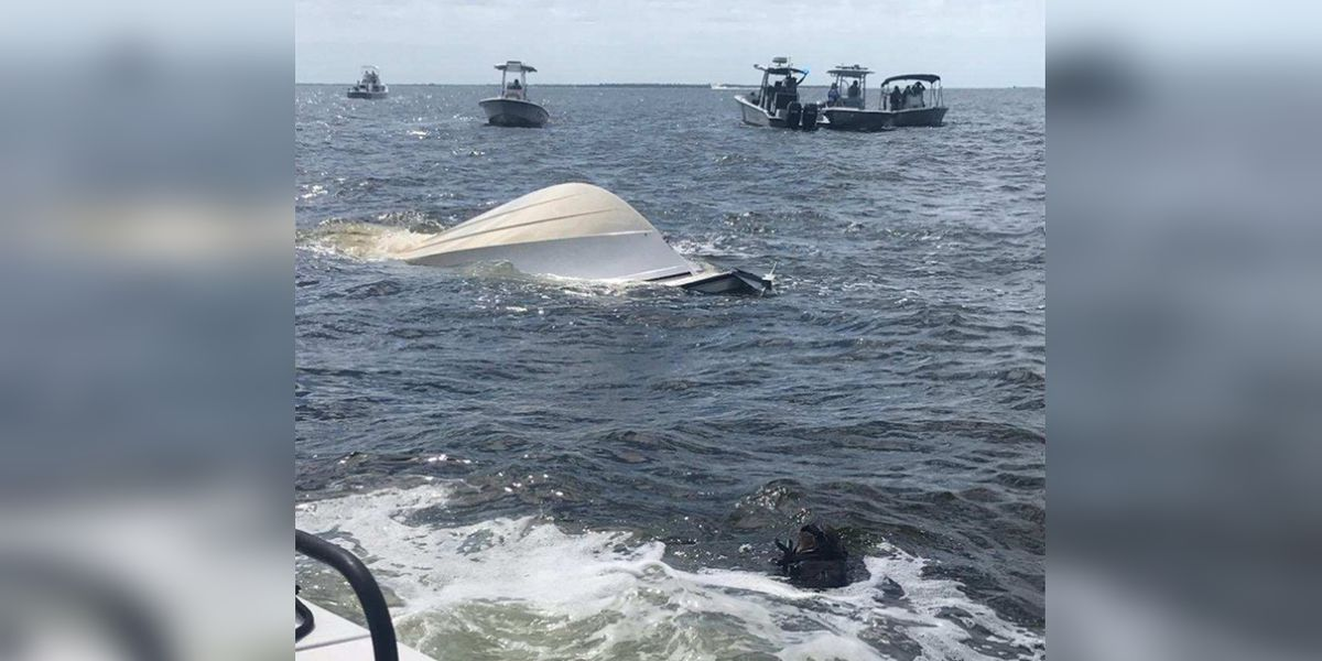 Man dies after becoming trapped under capsized boat in Charlotte County