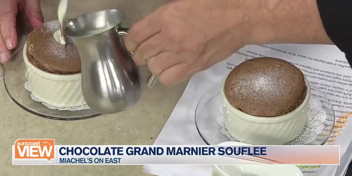 Chocolate Gran Mariner Souflee with Michael's On East Head Pastry Chef Ray   Suncoast View