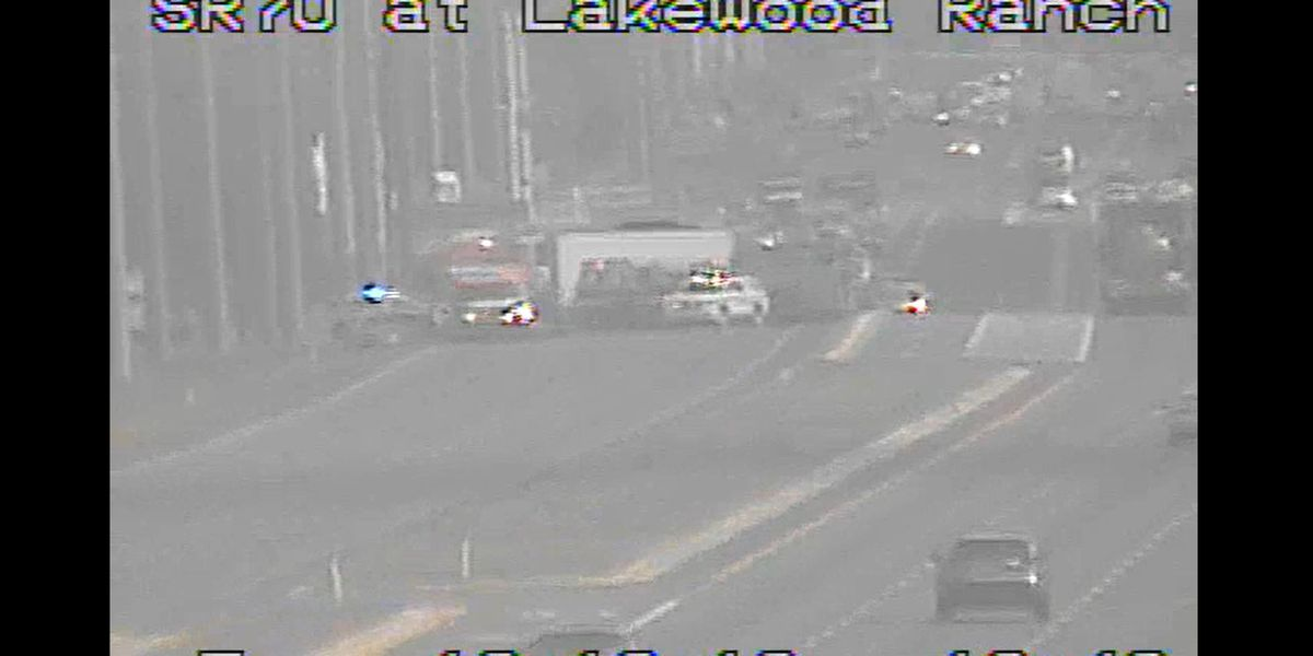 Crash closes State Road 70 westbound in Lakewood Ranch