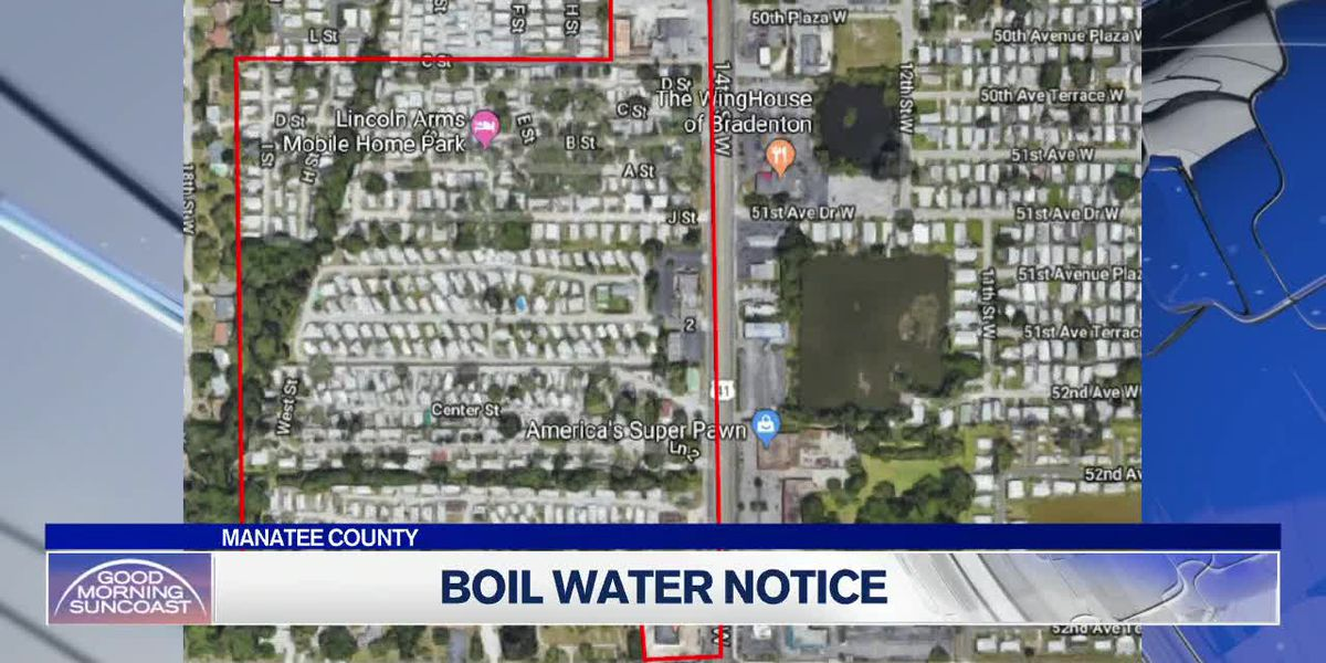 Manatee Boil Water Notice in Effect