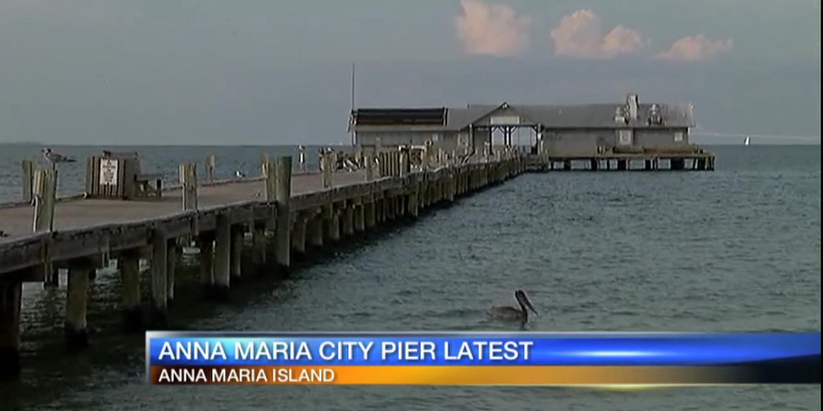 Around half of the pilings in for new Anna Maria City Pier