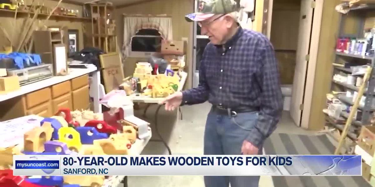 80-Year-Old Makes Wooden Toys for Kids