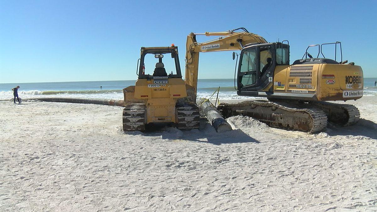 The City of Sarasota nears halfway mark for its emergency Lido Beach renourishment project
