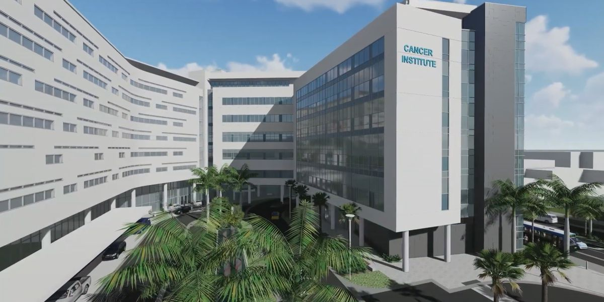 Construction of Cancer Institute Oncology Tower at Sarasota Memorial Hospital moving along