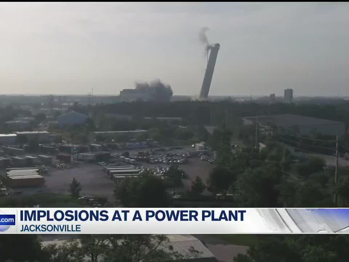 Implosions of a Florida power plant have begun