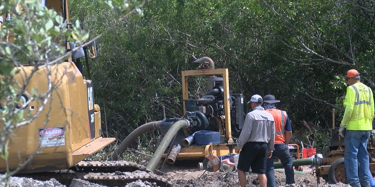 Major sewer line break spills millions of gallons near Sarasota Bay in Manatee County