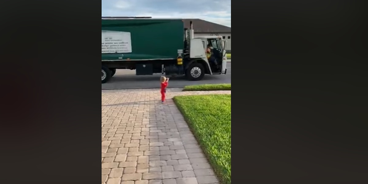 3-year-old Suncoast boy has special friendship with neighborhood sanitation workers