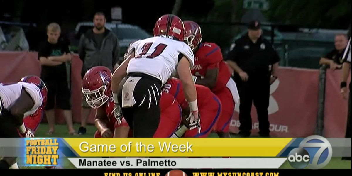 Video: Football Friday Night Game of the Week - Manatee vs. Palmetto