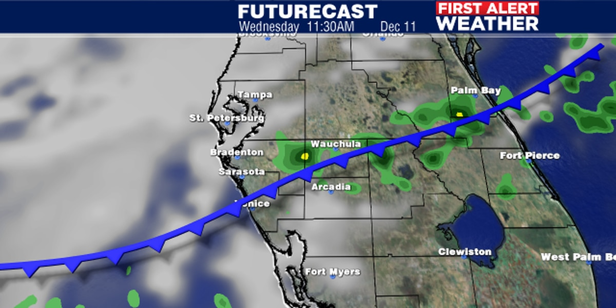 Cold front to bring changes to Suncoast on Wednesday