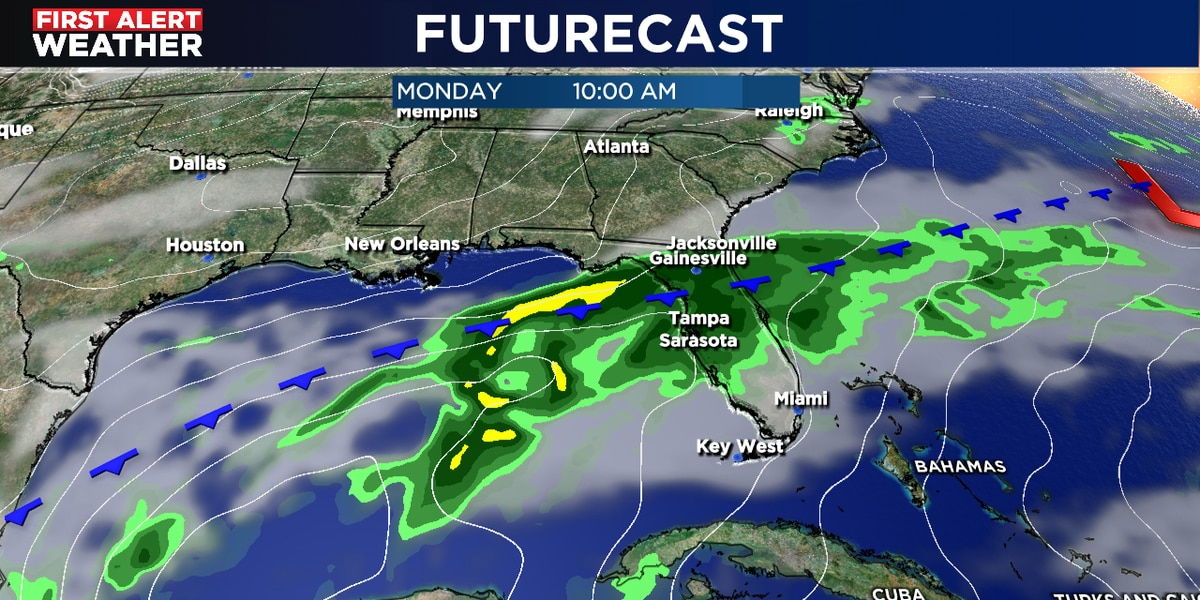 Stormy weather pattern begins late Sunday