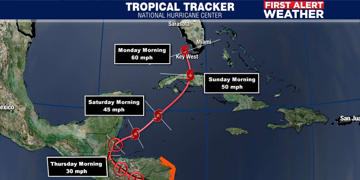 Tropical Storm Eta hits Central America hard, then back into the Caribbean