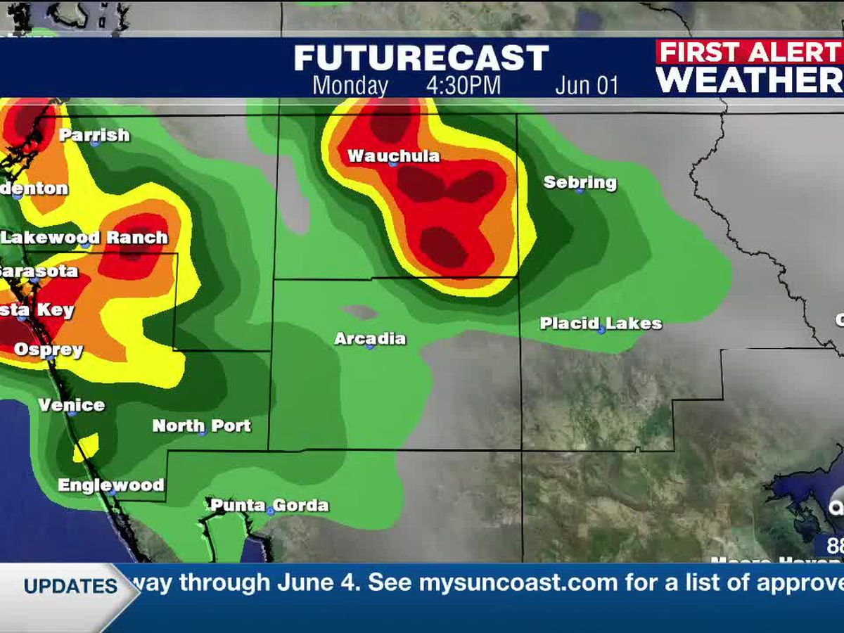 First Alert Weather: Sunday, May 31, 2020 - Numerous showers and thunderstorms expected for the next several days