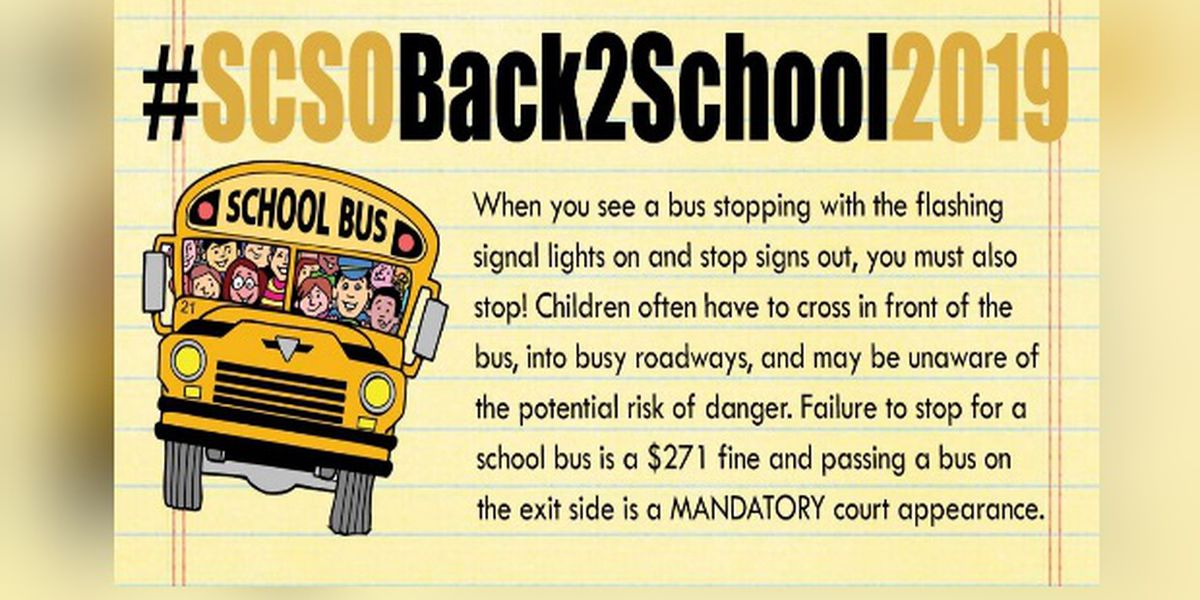 Drivers, just stop! $271 fine will be given if you don't stop for a school bus with signal lights on