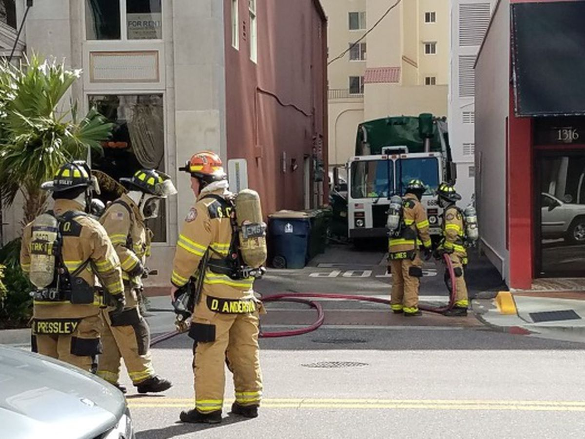 Hazardous material incident at Main Street and Palm in Sarasota