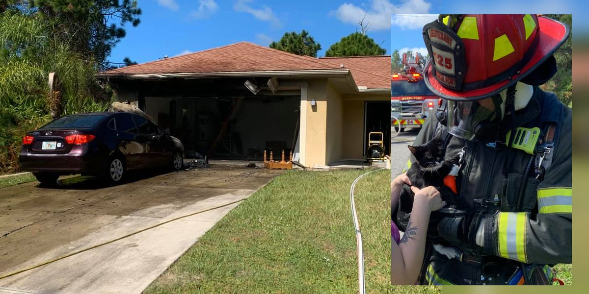 Vehicle fire spreads to North Port home, pets rescued
