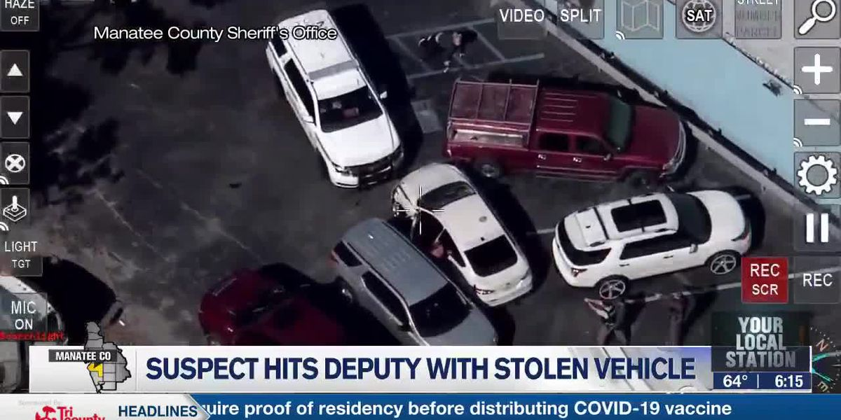 Suspect Hits Deputy with Stolen Vehicle