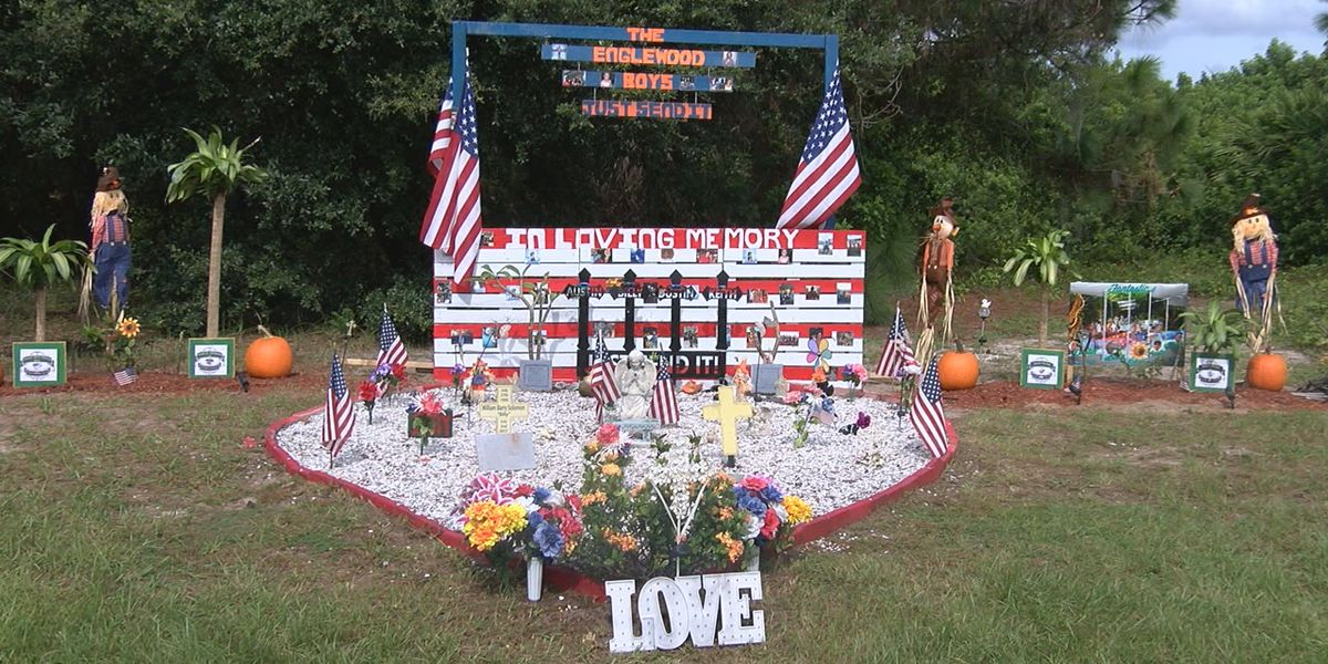 Memorial for four car crash victims vandalized in Englewood, community comes together to restore it