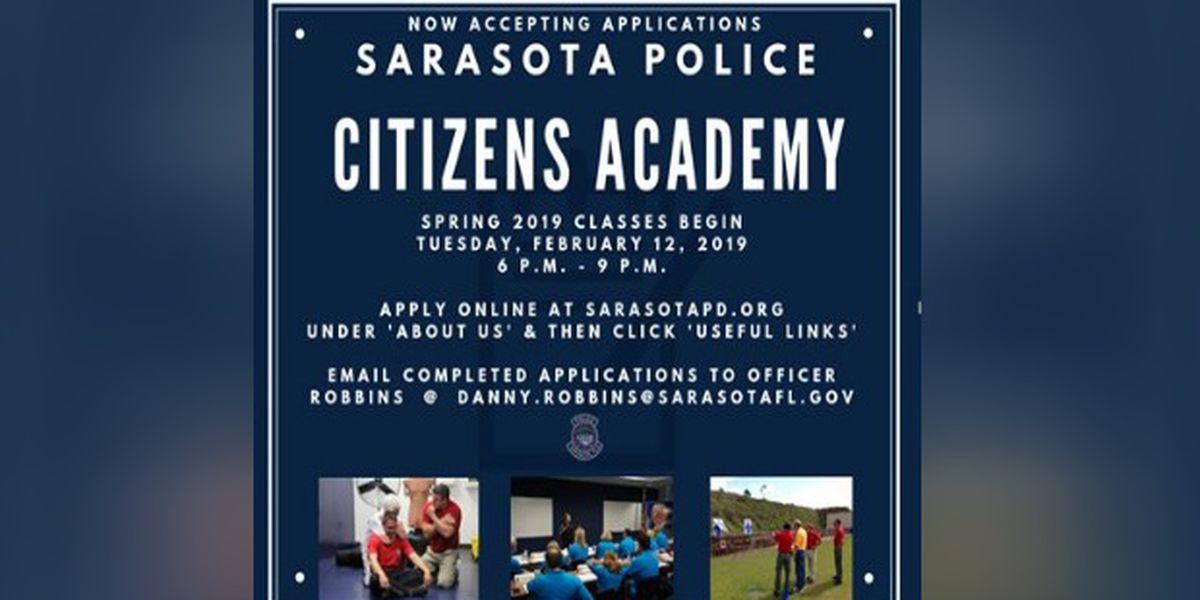 Applications Being Accepted for Spring 2019 Sarasota Police Citizens Academy
