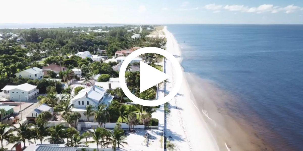 VIDEO: Drone footage shows dark, discolored water in Boca Grande