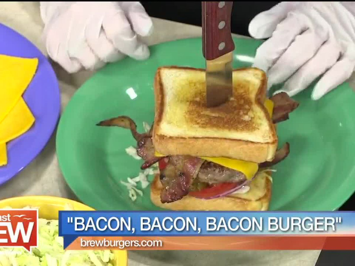 """Recipe for """"Bacon, Bacon, Bacon Burger"""" by Mike Bacon from Brewburgers 