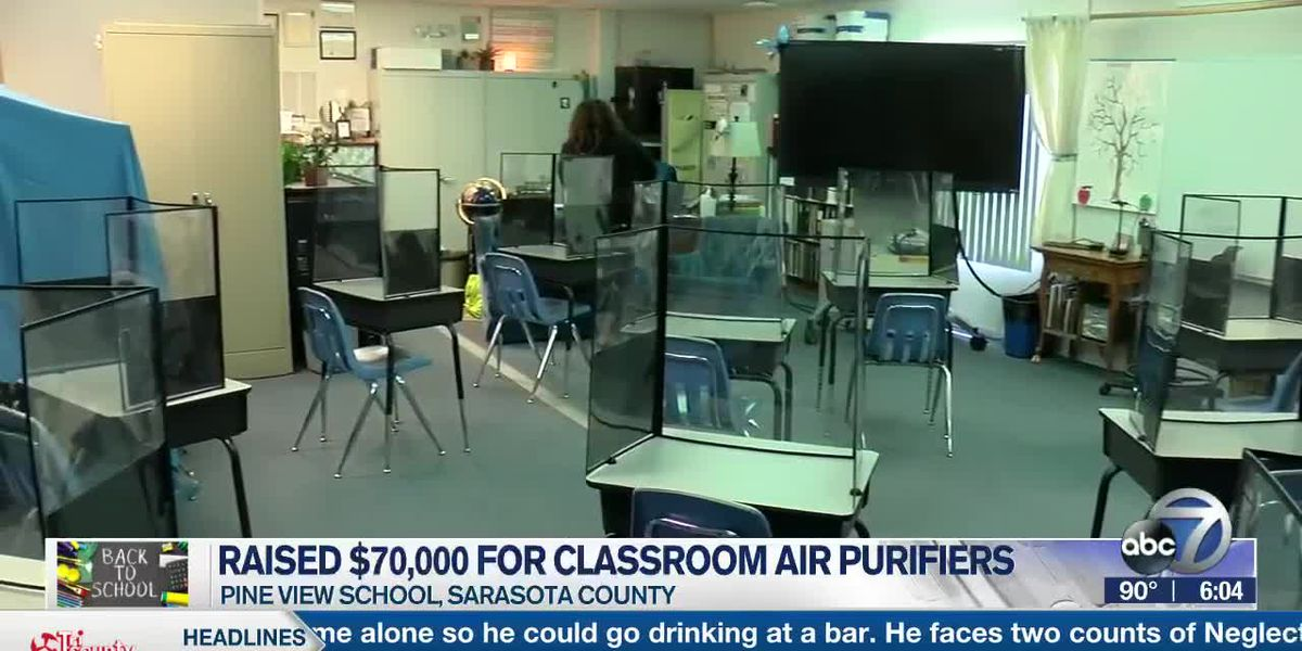 Pine View School Community donates 130 air purifiers for teachers and classrooms