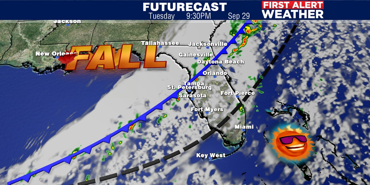 Cold front to bring Fall back to Suncoast