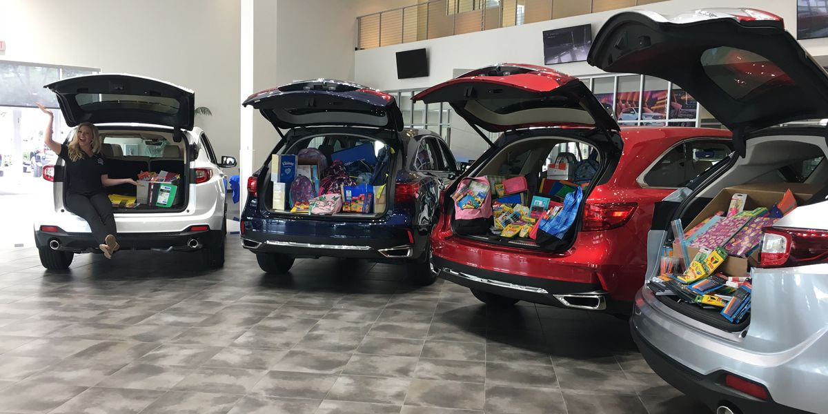 14 cars filled with supplies and more than $10,000 donated for teachers on the Suncoast