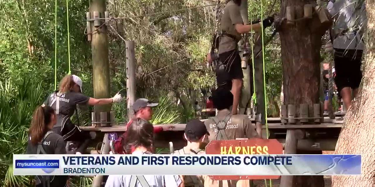Veterans and first responders compete in first annual Warrior Race featuring obstacle courses