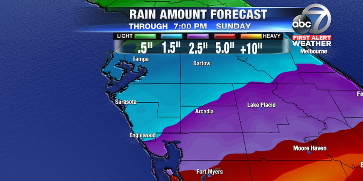 Rain chances increasing for Sunday as area of low pressure develops