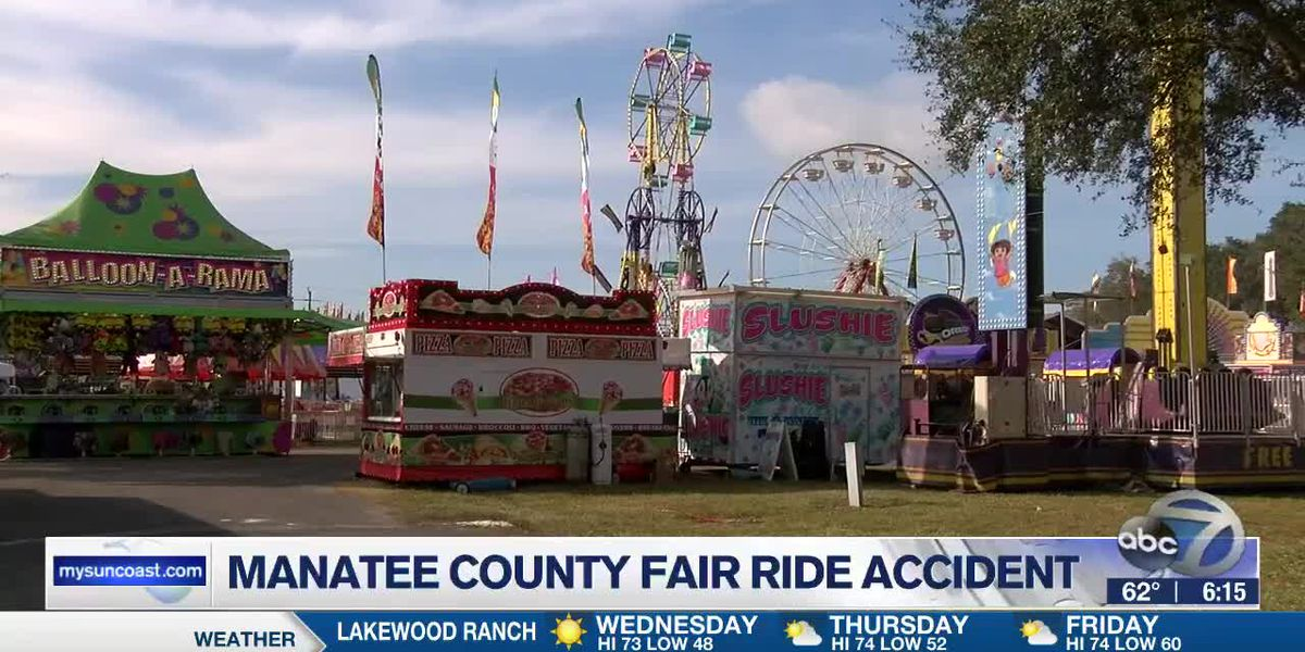 Ride accident at the manatee county fair