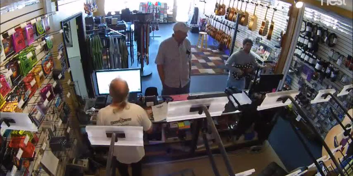 VIDEO: Thief caught stealing a guitar on-camera in Venice, suspect still on the loose