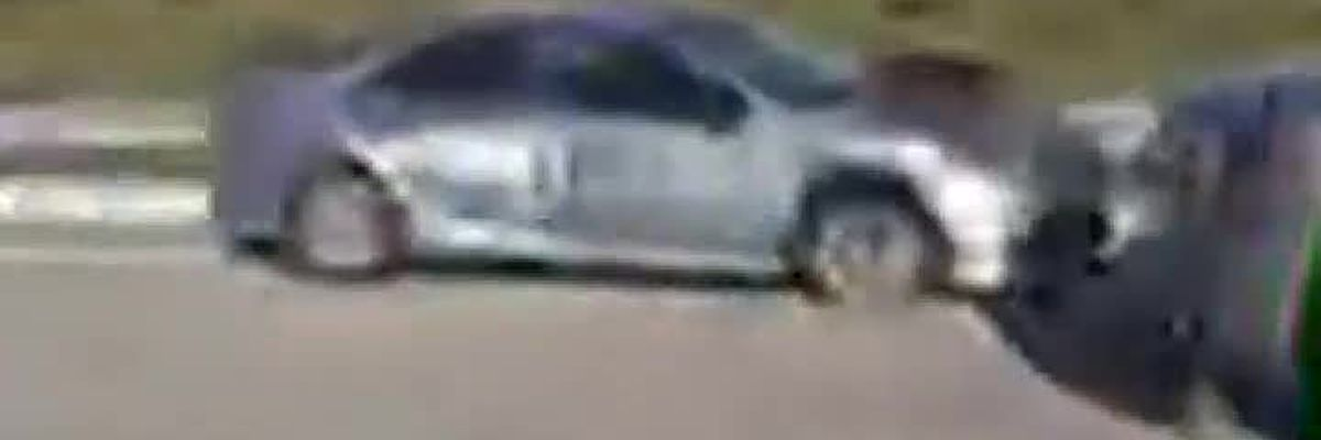 Deputies searching for driver of smashed Toyota on North Cattlemen Road